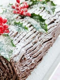 The best wine and liqueur matches for a chocolate yule log (just to make it even more indulgent . . . )
