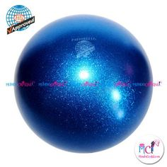 #Pelota de Gimnasia #Rítmica Pastorelli glitter-HV-azul
