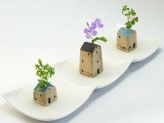 Clay Houses, Ceramic Houses, Miniature Houses, Pottery Houses, Slab Pottery, Ceramic Lantern, Ceramic Art, Ceramic Texture, Music Decor