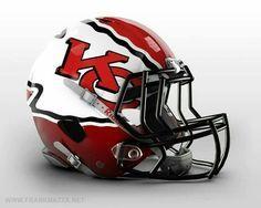 Kansas City Chiefs I want a CHIEFS helmet, just for the sake of decorating during the season! Cool Football Helmets, Sports Helmet, Football Uniforms, Best Football Team, National Football League, Football Stuff, Football Season, Kc Cheifs, 32 Nfl Teams