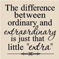 Fitness motivation: Be extraordinary!