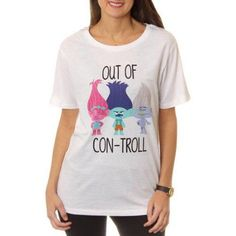 b64ded42 Dreamworks Juniors Trolls Out of Con-Troll Graphic Tee, White Trolls  Birthday Party,
