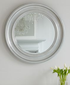 An Easy Round Mirror Ideal For A Living Room Hallway Or Bathroom Attractive Painted