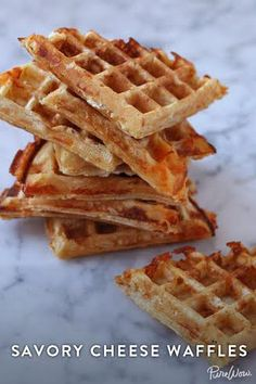 Regular waffles are amazing, but once you try this savory cheese waffles you might not look back.