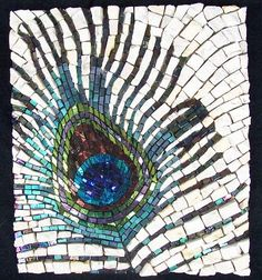 """Margo Anton. """"A Little Bit of Pride""""  8"""" by 6"""" Stained glass, dichroic   glass and marble"""