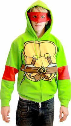 Amazon.com: Teenage Mutant Ninja Turtles Costume Adult Hooded Sweatshirt with Detachable Eye Mask: Clothing