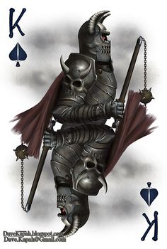 Playing Cards by David Kapah: The King of Spades | more here: http://playingcardcollector.net/2015/06/18/playing-cards-by-david-kapah/