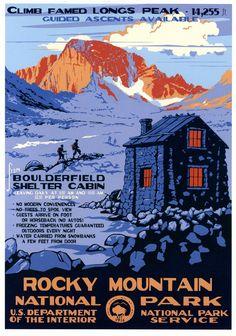 https://flic.kr/p/eiPdwn | Rocky Mountain National Park | Poster by Doug Leen & Brian Maebius.