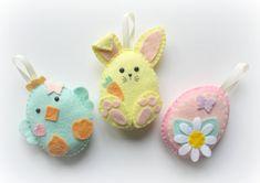 Gli amici Pasqua decorazioni in feltro. La di PollyChromeCrafts