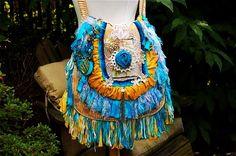boho gypsy handbag hippie purse tote bohemian chic style nomad bag slouch bag swarovski crystals blu-f33924.jpg (570×377)