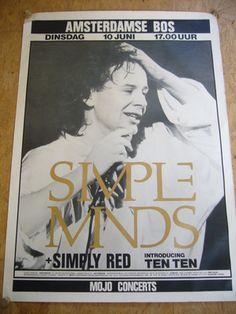 Simple Minds live in Amsterdamse bos. Met Simply Red in het voorprogramma. Was een heerlijk concert!
