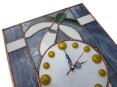 Flower Wall Clock in vintage style Snowdrops  by ZangerGlass, $95.00