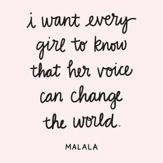 Malala // Female Empowerment Quotes // Use your voice // don t give up Empowering Women Quotes, Women Empowerment Quotes, Girl Empowerment, Women Empowerment Activities, Fierce Women Quotes, Female Quotes, Voice Quotes, Trust Quotes, Quotes To Live By