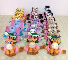 Centro de Mesas tema Safari   Feitos de Feltro www.facebook.com/atelienathpatch
