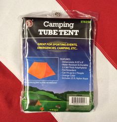 Camping Tube Tent sporting events emergency tactical survival water resistant #UST