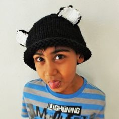 Black Cat Hat (Kids) Cat Hat, Crochet Patterns, Beanie, Store, Hats, Fun, Clothes, Black, Fashion