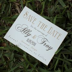 Savannah Save the Date Cards Destination Wedding by theinklab, $2.50
