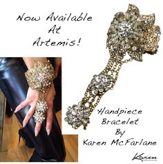 Now Available At Artemis! Statement bracelet hand piece by Karen McFarlane.
