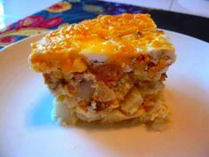 SLOW COOKER POTATO CASSAROLE sounds pretty good.  may try it without the sausage!