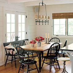 lake cottage decor | Lakeside cabin makeover: lake house cottage dining area