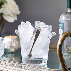 Glass Ice Bucket   The White Company
