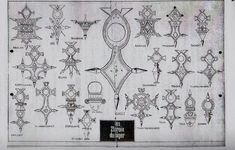 """For reference - the 21 Tuareg Crosses of the Niger from the Book of Wolfgang Creyaufmüller""""Das Agadez-Kreuz"""""""