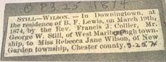 Genealogical Gems: Wedding Wednesday: George Still weds Rebecca Wilso...