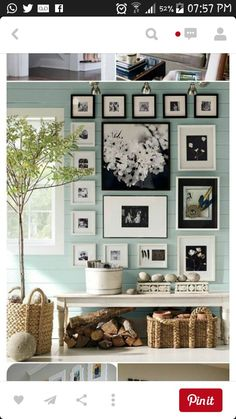 Pottery Barn's picture frames bring stylish solutions to any space. Find picture frames in wood, silver and brass finishes and create a personalized gallery wall. Shabby Chic Living Room, Shabby Chic Homes, Shabby Chic Decor, Vintage Book Art, Green Paint Colors, Gray Color, Photomontage, Picture Frames, Picture Groupings