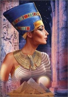 Hardly a figure like Egyptian queen Nefertiti could go unnoticed. And that, finished the episode of Amarna, in which her husband, Akhenaten, imposed a new religious cult Egyptian Drawings, Egyptian Art, Ancient Egypt History, Ancient Aliens, Ancient Greece, Egyptian Kings And Queens, Egyptian Queen Nefertiti, Egyptian Fashion, Afrique Art