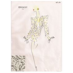 Givenchy Croquis of a Suit 1