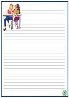 Printable Lined Paper, Free Printable Stationery, Printable Planner Pages, Printable Recipe Cards, Printable Letters, Printables, Spring Desktop Wallpaper, Paper Wallpaper, Paper Toys