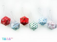 DIY Christmas Balls. Crafts for kids.  Set of 6 Printable Cutout by TaraHandmade, $5.70