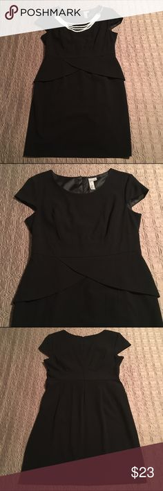 🆕Cap Sleeve Peplum Waist LBD Classy and sexy, this little black dress will hug your curves in all the right places. Tulip peplum waist adds a fun detail. Invisible zipper up the back. Slight stretch to material adds comfort and ease of movement. Excellent condition, only worn a couple times. ❌No trades Emma & Michele Dresses Midi
