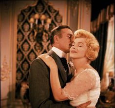 Marilyn with Sir Laurence Olivier in 'The Prince and the Showgirl.' Photo by Milton H. Greene