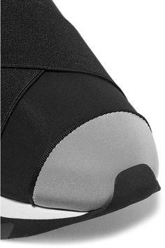 Dolce & Gabbana - Ibiza Neoprene Slip-on Sneakers - Black - IT35.5