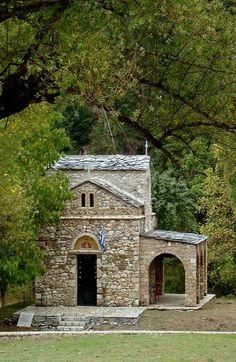 Byzantine church of Zoodohos Pigi, Elati, Arcadia, Greece Arcadia Greece, Corinth Canal, Church Architecture, Kirchen, Byzantine, Capital City, Day Trip, Athens, The Good Place