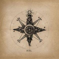 Compas tattoo