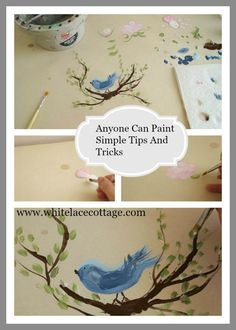 Hometalk | How To Paint Roses, Birds And Leaves