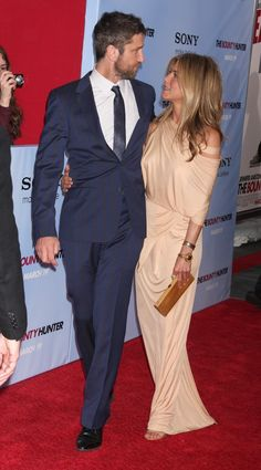 Jennifer Aniston and Gerard Butler at the Premier of The Bounty Hunter in New York City
