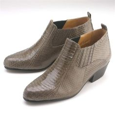 Dress boots for only US $139, check out Gray Pointy toe demi-boot in genuine snake skin with side gore.Durable man-made.Buy more save more. Buy 3 items get 5% off, Buy 8 items get 10% off.