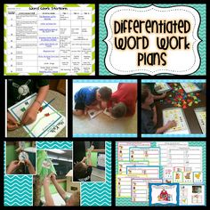 Beginning of the Year. Differentiated Word Work Plans . . . and so it begins.