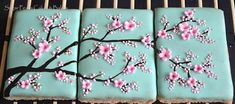 Japanese+Plum+Blossom+Cookie+Triptych