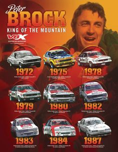 Peter Brock Holden Racing ' King of the Mountain' Bathurst Australian Muscle Cars, Aussie Muscle Cars, Holden Muscle Cars, Holden Torana, Holden Australia, Holden Commodore, Unique Cars, Car And Driver, Ford Gt