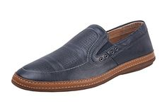 Baldi Men'S Ralston Ss15 Navy Leather Slip On 42