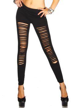 Damenmode, Young Fashion & Damenbekleidung-Blickdichte Leggings schwarz von LEGGY 3