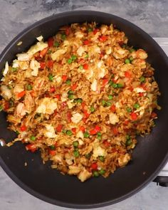 Use a mix of whatever meat you have on hand in this combination fried rice. Spicy chili-garlic sauce adds a kick and, once opened, it keeps indefinitely in the refrigerator. dog food recipes for seniors Easiest Fried Rice Rice Recipes For Dinner, Easy Rice Recipes, Asian Recipes, Fried Rice Recipes, Recipes Using Rice, Healthy Fried Rice, Vegetarian Fried Rice, Brown Rice Recipes, Vegetarian Recipes