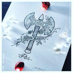 Shango/Xangô's oshé (bi-headed axe, symbol of justice). By Ubi Maya (Brazil) Love Tattoos, Small Tattoos, Tatoos, Axe Tattoo, Tattoo You, Shango Orisha, Little Bit, Symbolic Tattoos, Mandala Tattoo