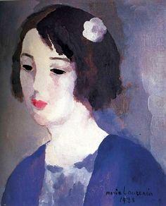 portrait of Mrs Aitato byMarie Laurencin, 1928.  http://www.artexperiencenyc.com/social_login