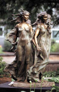 Daughters of Odessa Lifesize 1998 Bronze Sculpture by Frederick Hart Chef D Oeuvre, Oeuvre D'art, Modern Sculpture, Sculpture Art, Metal Sculptures, Abstract Sculpture, Public Art, Metal Art, Amazing Art