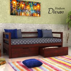 Bedroom sofa Online India Fresh Pin by Woodenstreet On Divan In 2019 – Indian Living Rooms Wooden Sofa Designs, Bed Design, Indian Home Decor, Sofa Design, India Home Decor, Sofa Bed Design, House Interior Decor, Home Decor Furniture, Sofa Cumbed Design